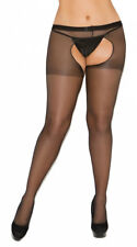 Plus Size Womens Plus Size Sheer Crotchless Pantyhose, Plus Size Sheer Open