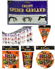 """""""Happy Halloween"""" Table Ware and Party Decorations Spooky Fancy Dress Party"""