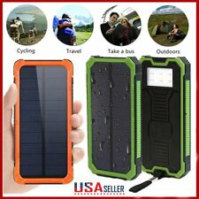 20000mAh Solar Panel Battery Charger Dual USB Power Bank with LED light US Stock