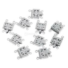 10pcs Silver Plated Metal Clasp Connector Bracelet Buckle DIY Jewelry Findings