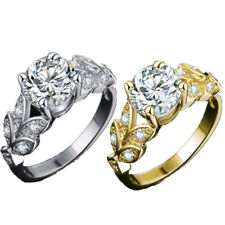 Flower Rings Engagement Wedding For Women 1Pcs Crystal Ring Accessories Jewelry