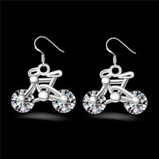 Women Earring Design Bicycle 1Pair New Gift Jewelry Bike Crystal Earring Fashion