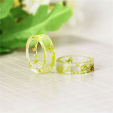 DIY 1 Pcs High Quality Fresh Dried Flower Fashion Ring Ring Resin Dried Flower