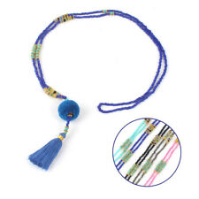 Jewelry Bohemian Long Women Necklace Beaded Hairball 1 Pcs Tassel Colorful