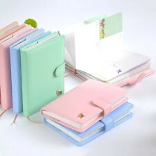 Button Cute Pony Daily/Yearly DIY Planner Journal Diary Notebook Leather Cover