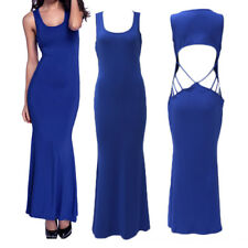 Section Trailing Long Halter Evening Sleeveless Fishtail Sexy Women's Dresses