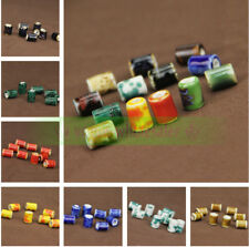 10mm Charms Flower Round Cylinder Ceramic Loose Spacer Porcelain Beads Making