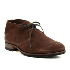 Billy Reid Men's Indianola Lace Shoe Brown Suede Made in Italy $395 msrp NIB