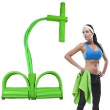 Exerciser Sit Up Pull Ropes Strong Fitness Resistance Bands Latex Pedal 4 Tube