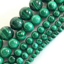 """Natural Green Malachite Round Spacer Beads 15"""" 4mm 5mm 6mm 10mm"""