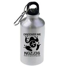 Geocaching Discover Me Trackable Mug or Water Bottle Fully Trackable Travel Bug