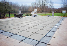 HPI Rectangle GRAY MESH In-Ground Swimming Pool Safety Cover-12 Year Limited WTY