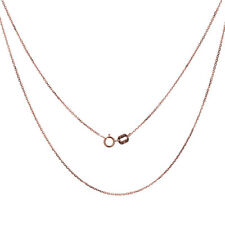 Men Women 14K Rose Gold Chain 0.6mm Cable Chain Necklace