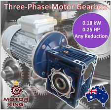 0.18kW 0.25HP Three Phase Motor Gearbox Drive 140 93 70 56 46 35 23 17 rpm 415V