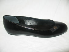 NIB AUTH GUCCI BLACK PATENT LEATHER BALLET FLATS SHOES size 6 or 6.5  US