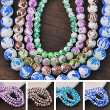 Lots Charms Colorful Crystal Glass Loose Round Spacer Beads 6mm Jewelry Finding