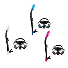 Adult PVC Swimming Diving Scuba Anti-Fog Goggles Mask Snorkel Set for GoPro