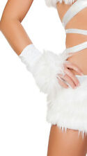 One Size Fits Most Womens Furry Light-up Gloves, White Furry Gloves