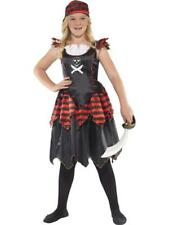Girls Gothic Pirate Fancy Dress Costume - All sizes