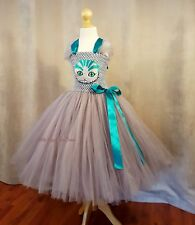 Cheshire Cat Dress. Alice in Wonderland.Fancy Dress. Tutu. Halloween Costume.
