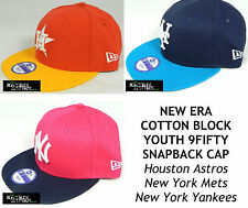 NEW ERA COTTON BLOCK YOUTH 9FIFTY SNAPBACK CAP - ASTROS/METS/YANKEES