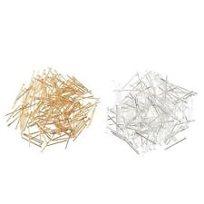 200pcs Silver Gold Plated Flat Head Pins Findings DIY Jewelry Accessories