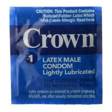 CROWN CONDOMS CHOICE OF 6 PACK OR 12 PACK LIGHTLY LUBRICATED LATEX MALE CONDOM