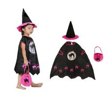 Adult Kids Girls Halloween Party Witch Costume Set Cosplay Fancy Dress Outfits