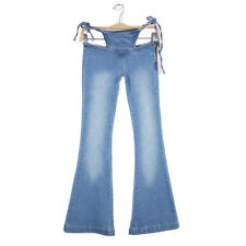 Boyfriend Jeans Trousers Boot Cut Pant Hollow lap stra Denim Pants Sexy Women