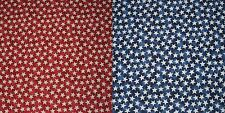 Stars on Red/Blue Fabric by Timeless Treasures - By The Yard