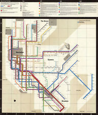 1972 New York City Subway Map Massimo Vignelli Art Print Poster System Map