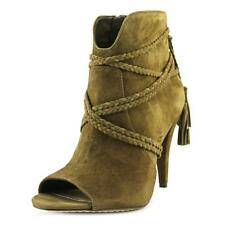 Vince Camuto Astan  Women  Peep-Toe Suede Brown Ankle Boot