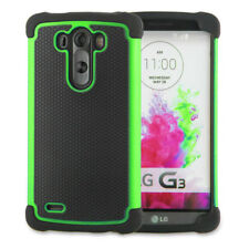 Green LG G3 Heavy Duty Strong Tradesman Hard TPU Case Cover