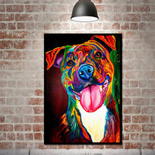 Modern Simple Huge Wall Art Oil Painting On Canvas Colorful Dog Unframed