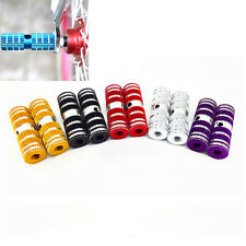 """2pcs Cycling BMX Bike Bicycle Cylinder Aluminum Alloy 3/8"""" Axle Foot Pegs^~^"""