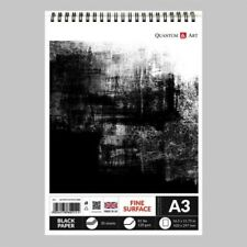 Sketch Pad Black Drawing Artist Paper on Spiral Book 30 sheets - 60 pages