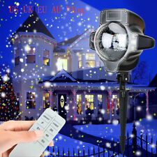 Snowfall LED Lights Rotating Waterproof Snowflake Outdoor Projector Light Remote