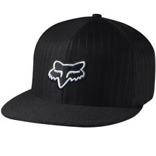 Fox Racing The Steez Fitted Hat Black Pinstripe/White