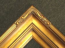 "Gold Leaf Ornate photo family Oil Painting Wood Picture Frame 5"" WIDE 607G"