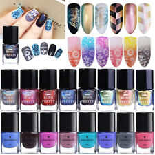 6ml Thermal Color Changing Chameleon Holographic Stamping Nail Polish Varnish