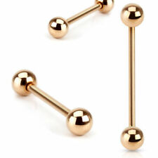 Tongue Piercing Barbell Tragus Helix Conch Intimate Breast Ear Rose Gold