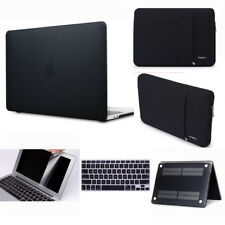Black Rubberized hard case sleeve bag keyboard cover to Macbook Pro Air 11 13 15