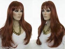 Long Skin Top Wavy Straight Blonde Brunette Red Grey Wigs