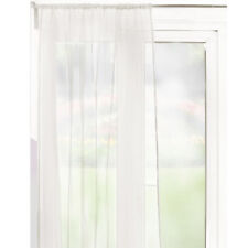 Slot Top Sheer Voile Curtain Panel – 59 inch Width – Ivory – Ready Made