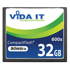 32GB Compact Flash CF Memory Card 90MB/s Support Recording 4K For Digital Camera