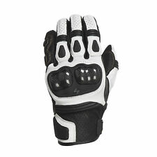 Scorpion Womens White/Black SGS MKII Leather Motorcycle Gloves