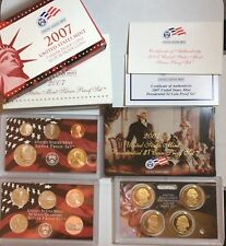 2007 US Silver Proof Set - 90% Silver PQ Proof Coins - NR Auction! Silver Coin
