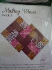 Making Waves Quilt Blocks from Jo Ann Block of the Month Beautiful Quilt  Peek:}