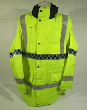 Ex Police Hi Vis Waterproof Jacket With Reflective Strips Security Emergency
