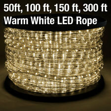 2-Wire LED Rope Light 110V Home Party Christmas Decorative In/Outdoor Warm White